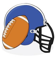football and helmet vector image