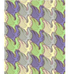 Seamless bird repetition pattern vector image vector image