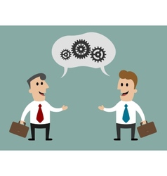 Two businessmen having a discussion about vector image vector image