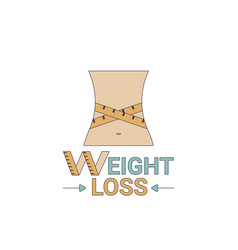 weight loss icon weight loss icon vector image vector image