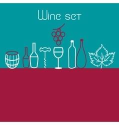 Wine elements set vector image vector image