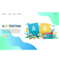 A b testing website landing page design vector