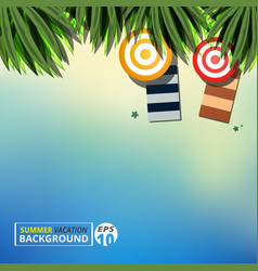 abstract of summer vacation background with vector image