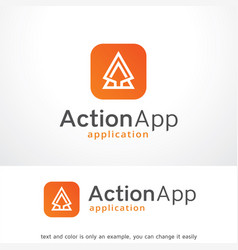 Action app logo template design vector