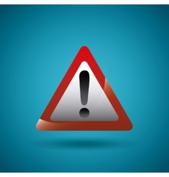 Alert sign icon vector