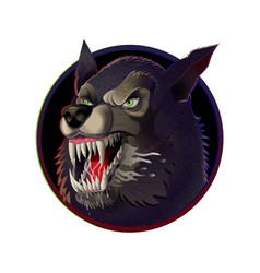 angry wild wolf vector image