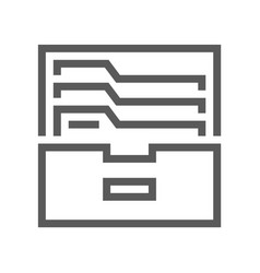 archive and folders line icon 48x48 pixel vector image