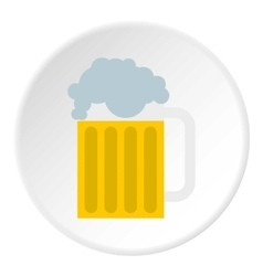 Beer mug icon flat style vector