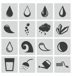 black water icons set vector image vector image