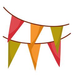 bunting decoration celebration isolated icon vector image
