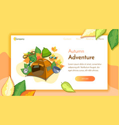 Camping landing page vector