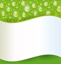 Card with green water drop vector image