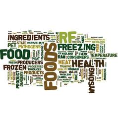 case against raw frozen pet foods text vector image