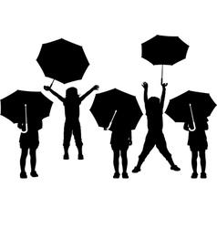 child with umbrella vector image