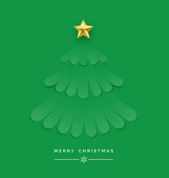 christmas tree made green ribbons new year vector image