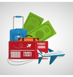collection travel concept tourism vacation vector image