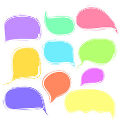 Colorful vetor speech or thought bubbles set vector