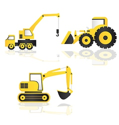 Construction trucks vector