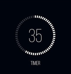 countdown timer digital counter clock timer vector image