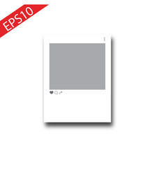 cutout frame for photo social network post vector image