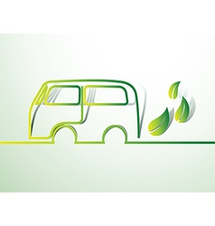 Eco car2 vector