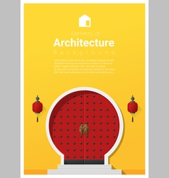 Elements of architecture front door background 8 vector image