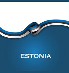 Estonia sport style flag ribbon classic style vector