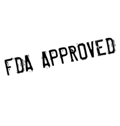 Fda approved stamp vector image