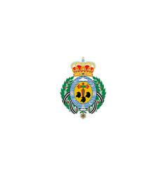 Flag santa cruz de tenerife canary islands vector