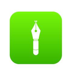 Fountain pen nib icon digital green vector