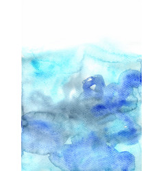 fresh blue and indigo watercolor background vector image