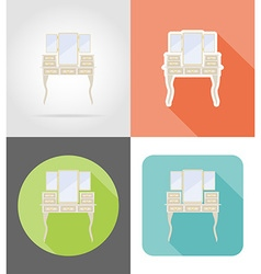 furniture flat icons 14 vector image