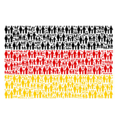 german flag collage of family child items vector image