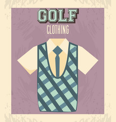 Golf uniform masculine shirt vector