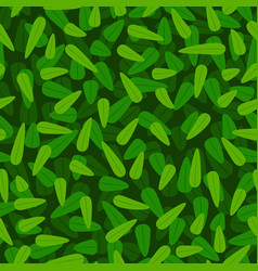 green foliage pattern vector image