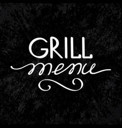 Grill menu concept vector