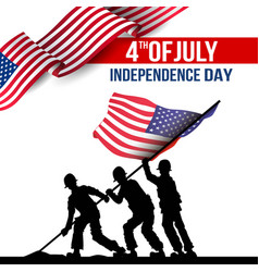 Happy independence day america template design vector