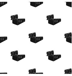 Hard cheese icon in black style isolated on white vector