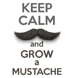 Keep Calm and grow a Mustaches vector image