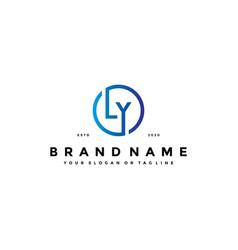 Letter ly logo design vector