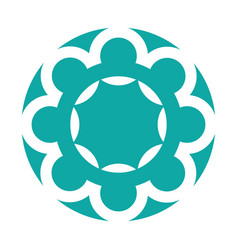 Mandala retro culture icon vector