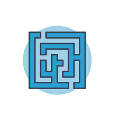 Maze colorful icon vector