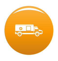 medical aid icon orange vector image
