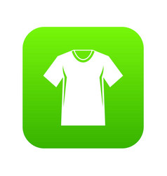 men tennis t-shirt icon digital green vector image