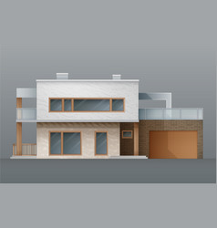 modern individual two-storey two floors double vector image