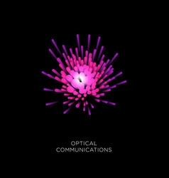 optical fiber cable logo vector image