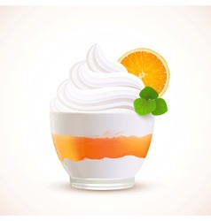 Orange sliced ice cream dessert vector