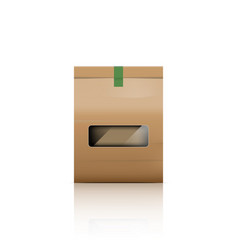 paper bag packaging with reflect vector image