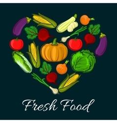 Poster of vegetarian vegetables farm harvest vector