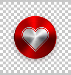 red abstract valentines badge vector image